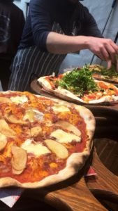 Wood fired oven pizza at Logues Goose Gander Pizzeria-Donegal Food TOurs