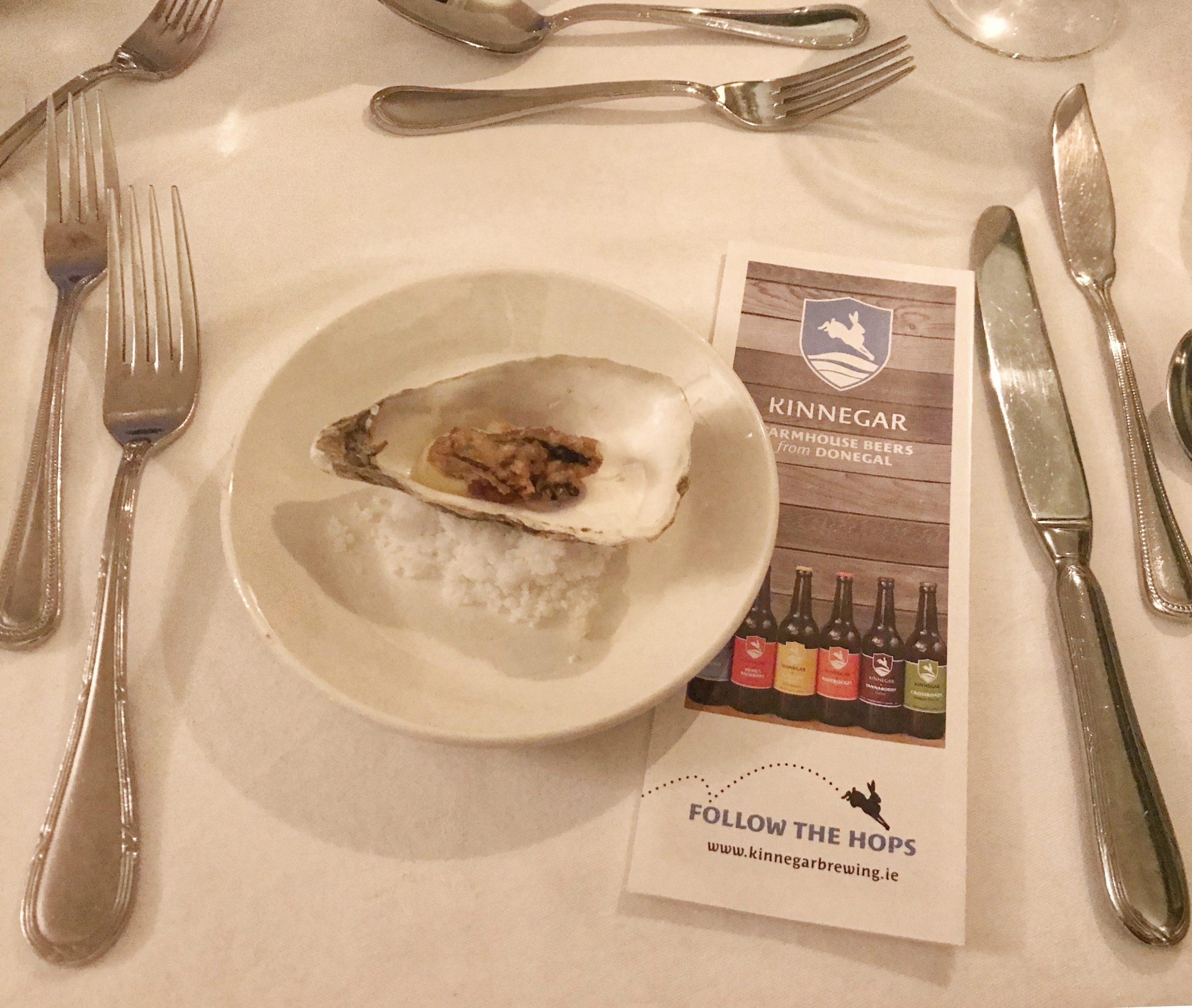 Krumpelnest Beer Battered Oyster with Oyster Emulsion scaled-Donegal Food TOurs