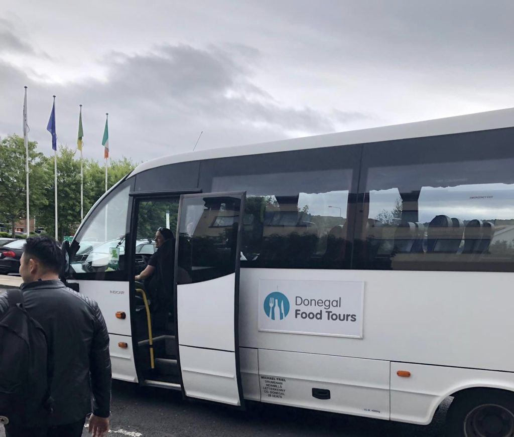 Boarding the Donegal Food Tours Bus-Donegal Food TOurs