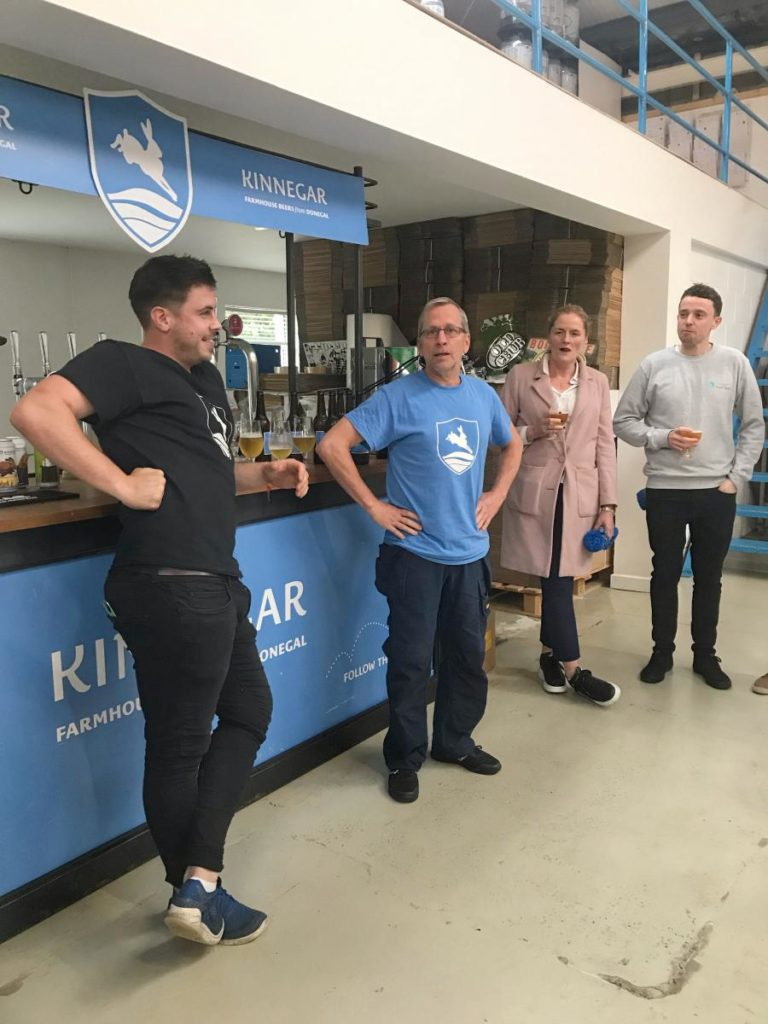 Rick Le Vert and Sean McCarthy from Kinnegar Brewing-Donegal Food TOurs